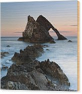 Bow Fiddle Rock At Sunset Wood Print