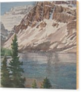 Bow Lake Alberta Wood Print