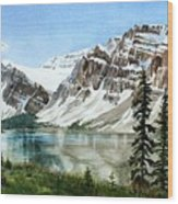Bow Lake Alberta No.2 Wood Print