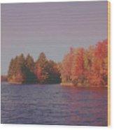 Bow Lake New Hampshire Autumn Colors Wood Print