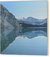Bow Lake Panorama Wood Print