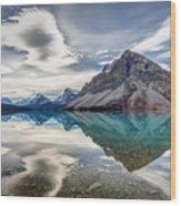 Bow Lake Sky Wood Print