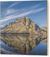 Bow Lake Sunrise Banff National Park Alberta  Canada  Wood Print