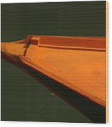 Bow Of Boat In Venice Wood Print