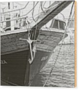 Bow Of The Boat Wood Print