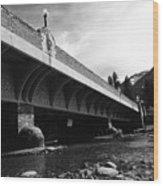 Bow River Bridge  Wood Print