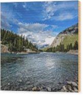 Bow River Alberta Wood Print