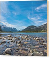 Bow Valley Campground Wood Print