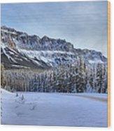 Bow Valley Castle Cliffs Wood Print