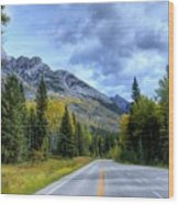 Bow Valley Parkway Banff National Park Alberta Canada Vi Wood Print