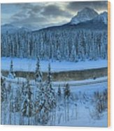 Bow Valley River Giant Panorama Wood Print