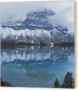 Bow Valley Storm Wood Print