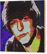 Bowie 60s Fringe  Wood Print