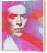 Bowie 70s Chic  Wood Print