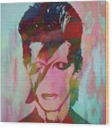 Bowie Reflection Wood Print