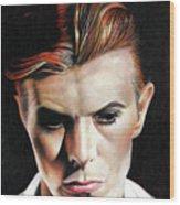Bowie Thin White Duke Wood Print