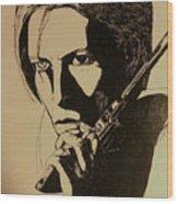 Bowie's Got A Gun Wood Print