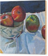 Bowl Of Apples Wood Print