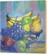Bowl Of Fresh Fruit Wood Print