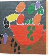 Bowl Of Fruit Wood Print