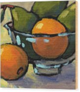 Bowl Of Fruit 4 Wood Print