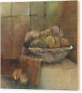 Bowl Of Fruit Wood Print by M Allison