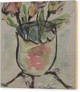Bowl Vase Wood Print