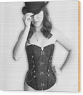 Bowler And Corset Wood Print