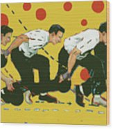 Bowling Lesson Wood Print