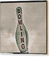 Bowling Wood Print