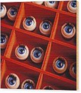 Box Full Of Doll Eyes Wood Print