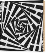 Box In A Box Maze Wood Print