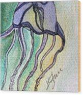 Box Jellyfish Wood Print