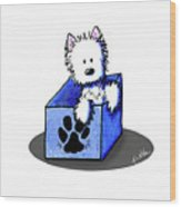 Boxed In Cuteness Wood Print