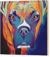 Boxer - Harley Wood Print by Alicia VanNoy Call