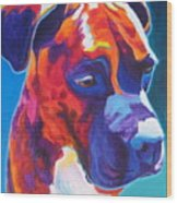 Boxer - Jax Wood Print by Alicia VanNoy Call