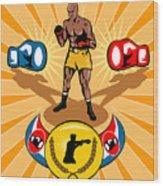 Boxer Boxing Poster Wood Print by Aloysius Patrimonio