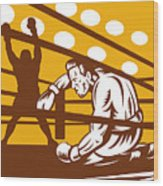 Boxer Down On His Hunches Wood Print