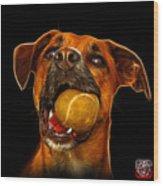 Boxer Mix Dog Art - 8173 - Bb Wood Print