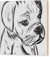 Boxer Pup Wood Print