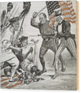 Boxer Rebellion Cartoon Wood Print