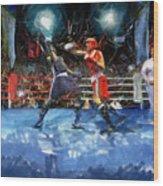Boxing Night Wood Print