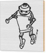 Boxing Robot Wood Print by Karl Addison