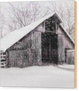 Boxley Snow Barn Wood Print