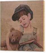 Boy And Bear  Wood Print