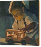 Boy and Their Toys Wood Print