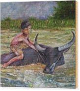 Boy In A Carabao Wood Print