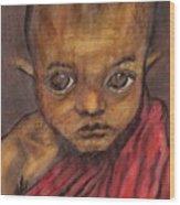Boy In Burma Wood Print