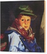 Boy With A Green Cap Also Known As Chico 1922 Wood Print