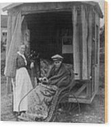 Boy With Tuberculosis In Bath Chair Wood Print